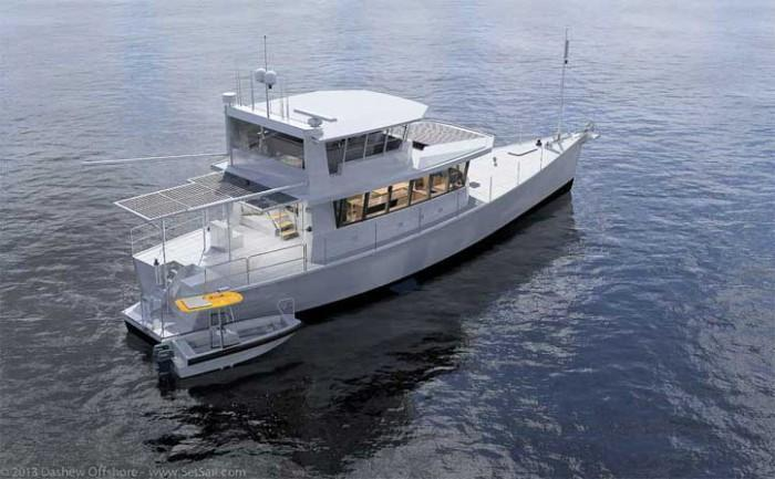 Dashew Offshore's FPB 78 takes shape - 1