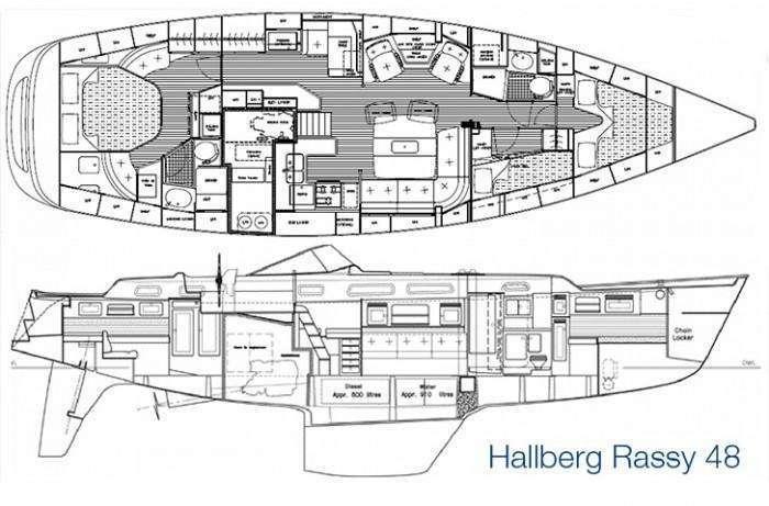 hallberg-rassy-48-layout