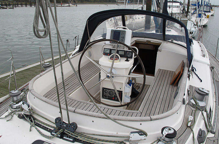 Cockpit view of Northwind 50 sailing yacht
