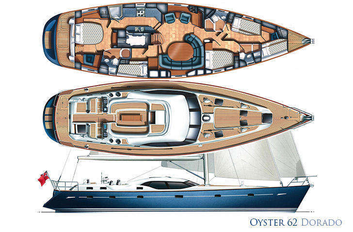 Oyster 62 Hull, Deck and Interior Plan