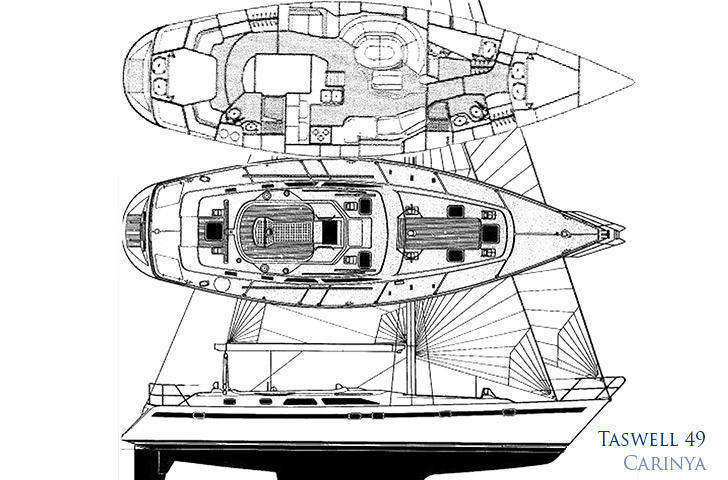 Hull deck layout plan taswell 49