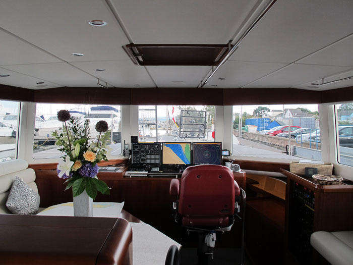 The Great room onboard FPB 64 Grey Wolf - helm seat