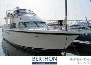Hatteras 52 Cockpit Motor Yacht joins the 20th Berthon Collection