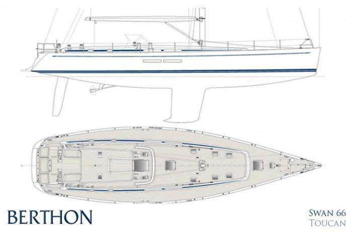 SWAN 66FD hull and deck plan