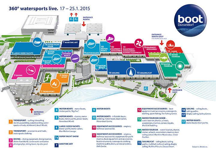 Dusseldorf Boat Show Map
