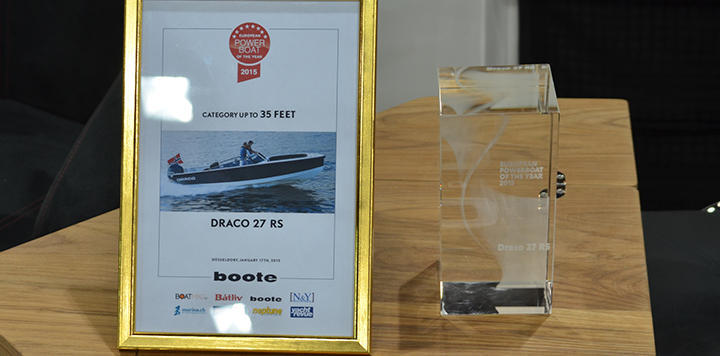 The European Powerboat of the year award up to 35 feet Draco 27RS