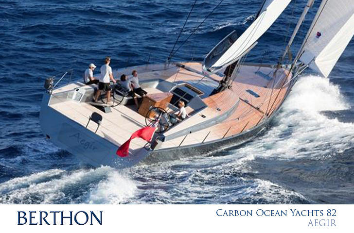 Carbon Ocean Yachts 82 2 sail reaching