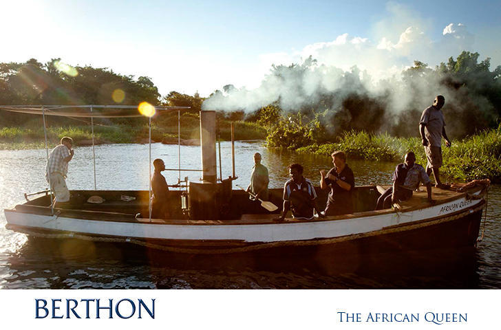 The African Queen steaming along