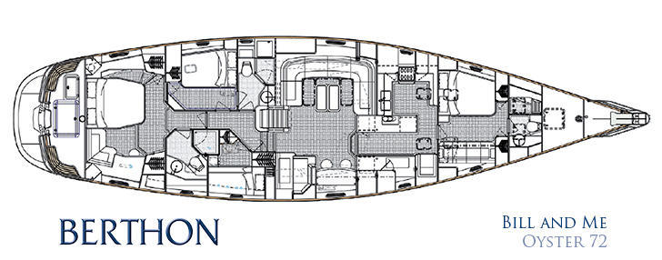 Oyster 72 Cabin Layout Plan