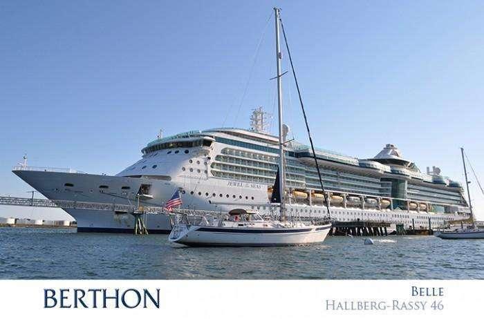 belle-hallberg-rassy-46-moored-portland
