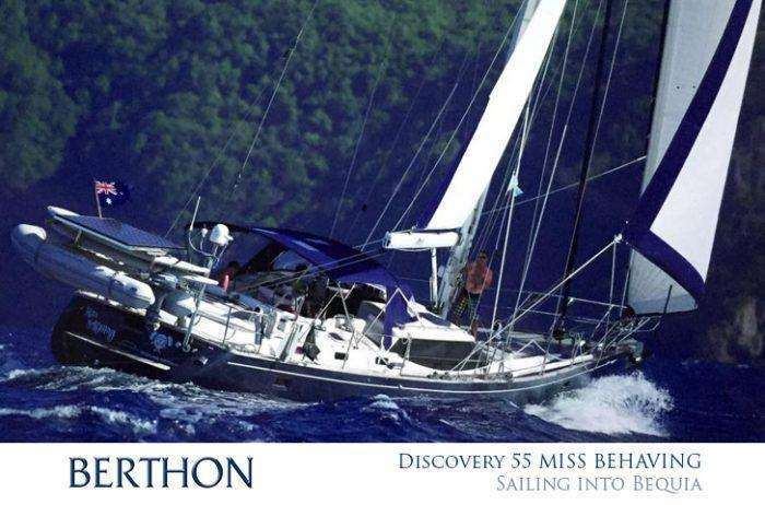 discovery-55-miss-behaving-sailing-into-bequia