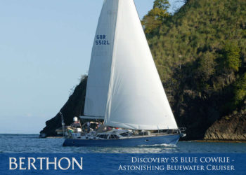 Discovery 55 BLUE COWRIE – Astonishing Bluewater Cruiser with Masses of Potential