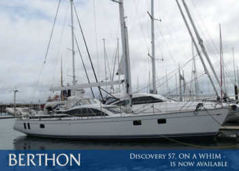 Discovery 57, ON A WHIM – is now available to see, touch and write a cheque for…