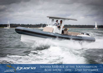 By land, by sea, with air. Iguana Yachts and Berthon International launch the Iguana X100 RIB at the Southampton Boat Show – 13th – 22nd September