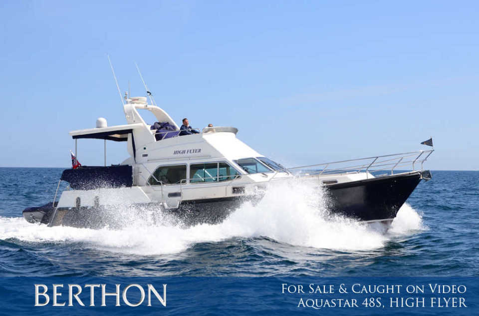For Sale and Caught on Video - Aquastar 48 S, HIGH FLYER.