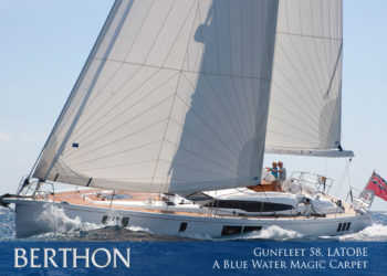 Gunfleet 58', LATOBE – available for blue water magic carpet duties now