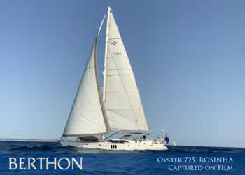 Oyster 725, ROSINHA captured on film now….