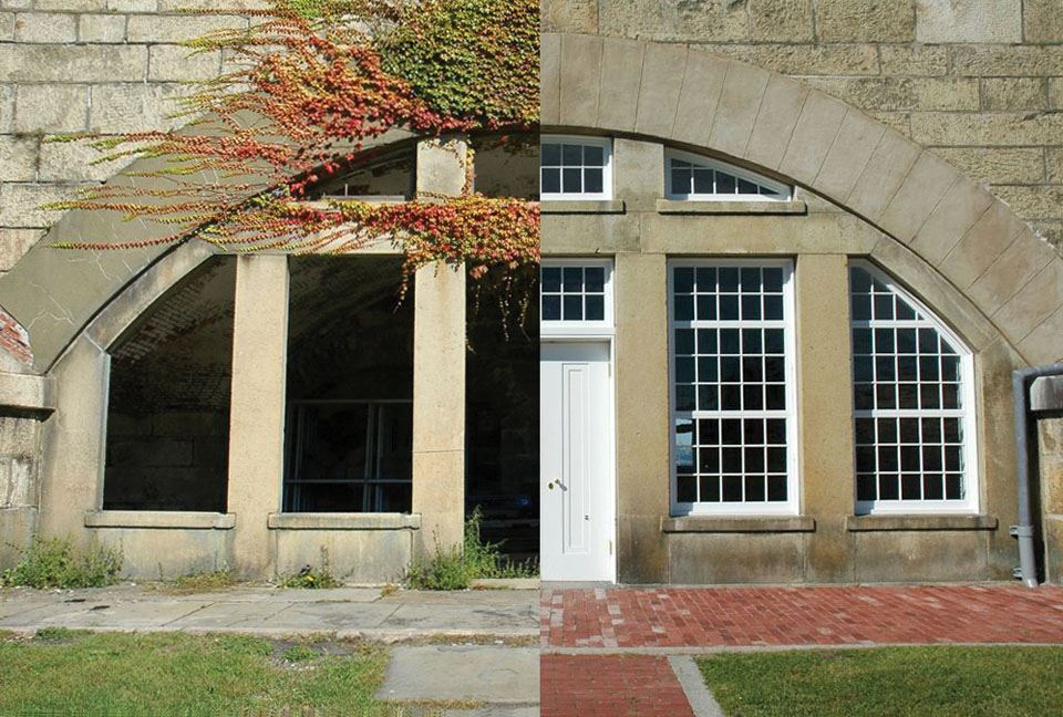 4-fort-adams-casemates-before-and-after-restoration