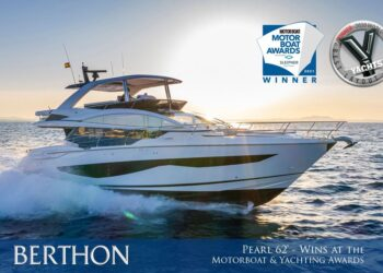 "The ""Stellar"" Pearl 62 Yacht Wins Best Flybridge Over 60' at 2021 Motorboat & Yachting Awards"