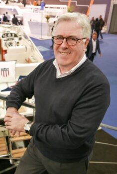 Berthon's Hugh Rayner chats with Knut Heiberg-Andersen of Windy Boats
