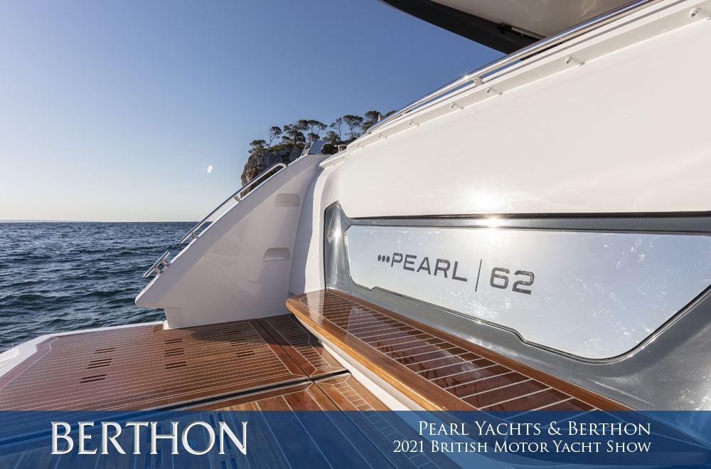 Pearl Yachts & Berthon at the 2021 British Motor Yacht Show